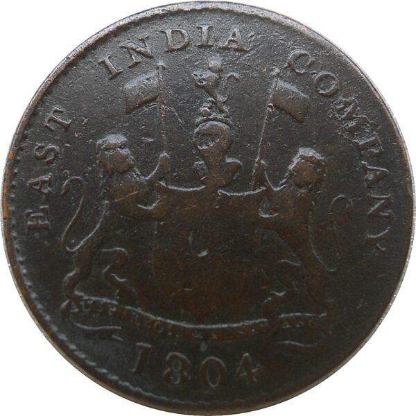 1804 East India Company 1 Pie Coin - RARE