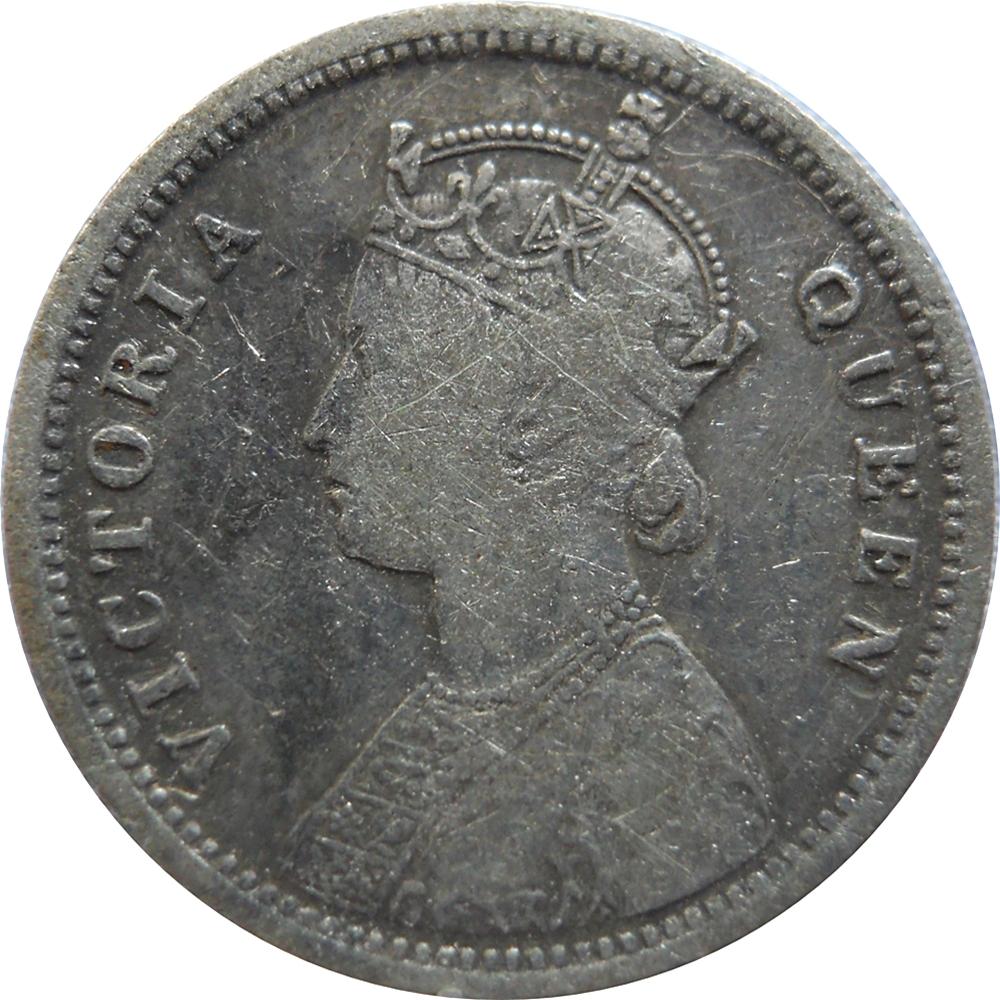 1862 1/4 Quarter Rupee Queen Victoria RARE COIN