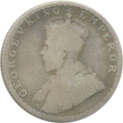1915 1/4 Quarter Rupee George V King Emperor Bombay Mint