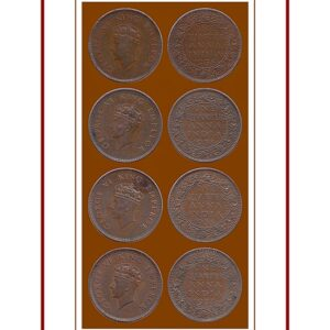 1938 One Quarter Anna George VI Calcutta & Bombay Mint