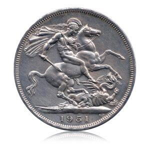 Goergivs VI D.GBR. OMN.Rex F.D Five Shillings 1951