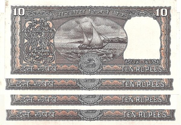"""D29 1990-92 OLD 10 RUPEE UNC NOTE By S.Venkitaramanan with """"K"""" Series"""