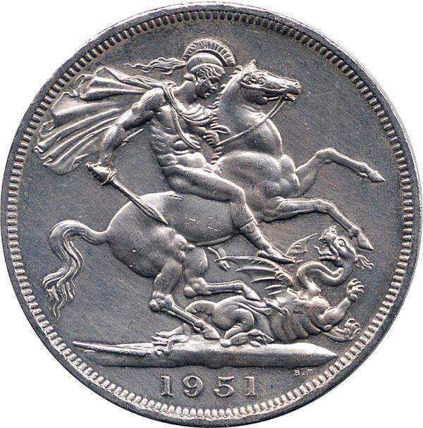 Goergivs VI D GBR OMN Rex F.D Five Shillings 1951
