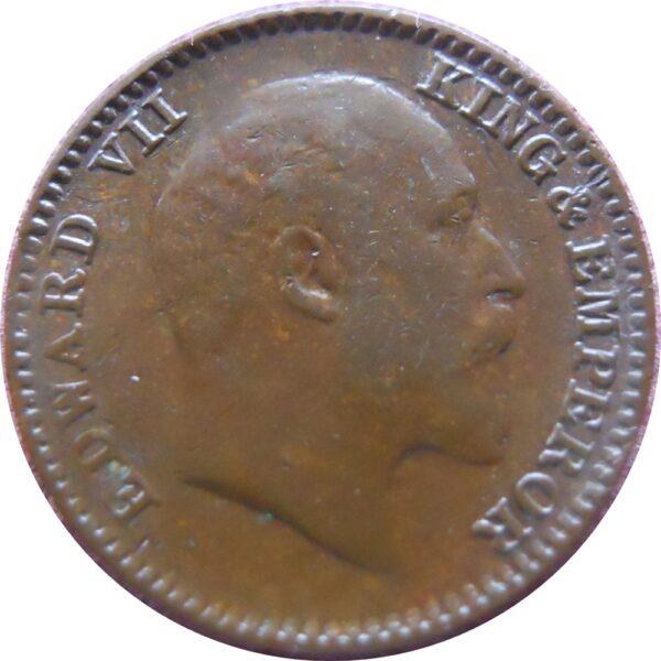 1909 1/12 Edward VII King & Emperor One Twelve Anna – RARE