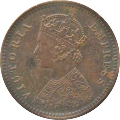 1901 1/12 Twelve Anna Victoria Empress Calcutta Mint