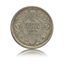1930 1/4 Quarter Rupee George V King Emperor Calcutta Mint - Best Buy