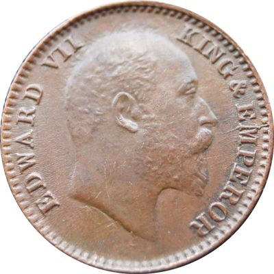 1905 1/12 One Twelve Anna Edward VII King Emperor Calcutta Mint - RARE COIN
