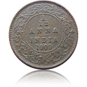 1909 One Twelve Anna Edward VII King Emperor Calcutta Mint RARE