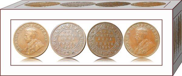 1930 1 Quarter Anna George V King Emperor Bombay Mint Rare Coin