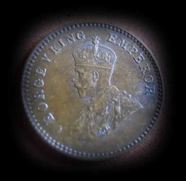 1934 1/12 One Twelve Anna George V King Emperor - Calcutta Mint - RARE