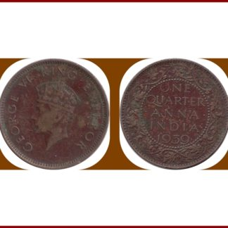 1939 One Quarter Anna George VI Emperor Bombay Mint
