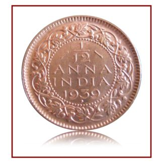 1939 Half Pice British India George VI Bombay Mint - Best Buy