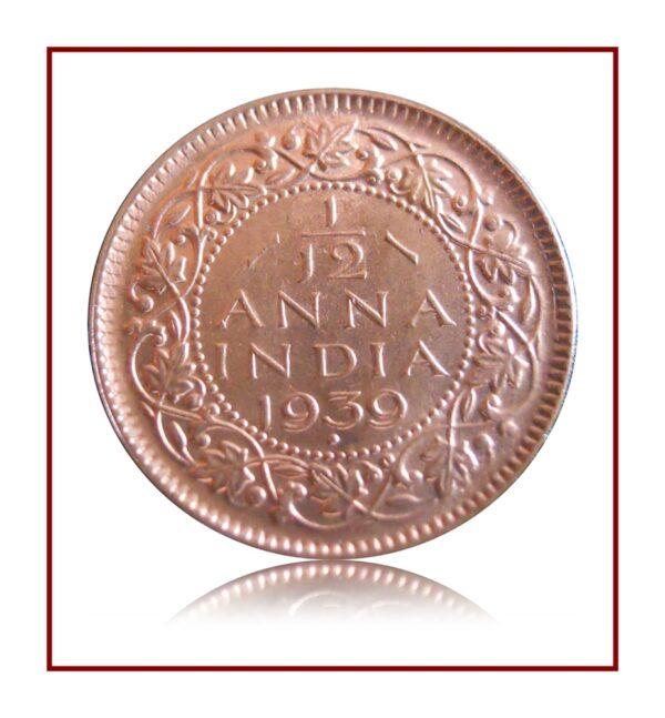1939 Half Pice British India George VI Bombay Mint - Best Buy