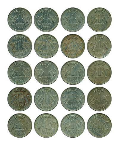 1975 76 77 78 79 1 One Rupee Republic India Coin - Bombay Mint - Best Buy