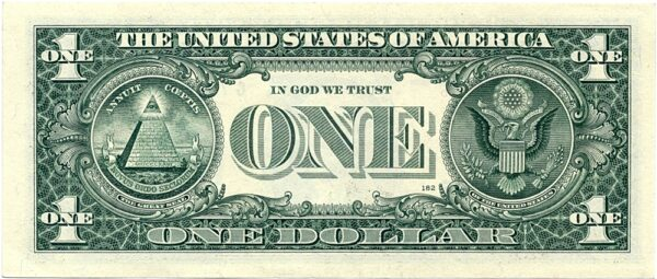 2009 1 One Dollar USA - VERY FINE NOTE with Fancy Number