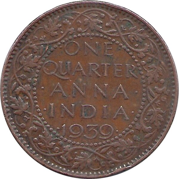 1939 14 One Quarter Anna George VI King Emperor Bombay Mint - Best Buy