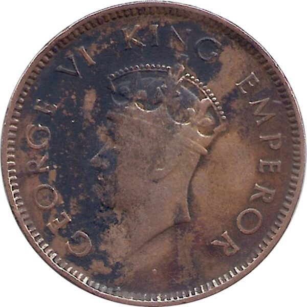 1939 1/4 One Quarter Anna George VI King Emperor Bombay Mint - Best Buy