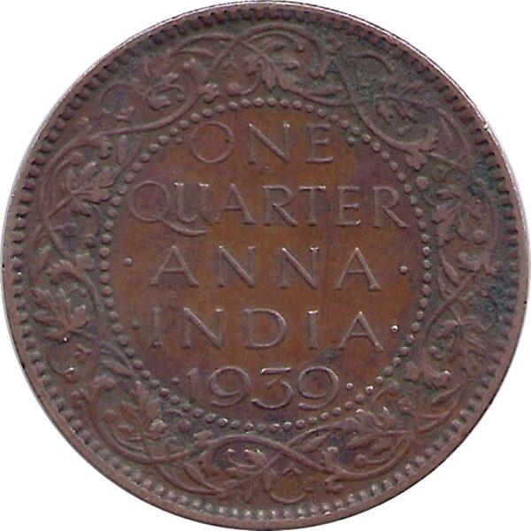 1939 1/4 One Quarter Anna George VI King Emperor Calcutta Mint - Best Buy