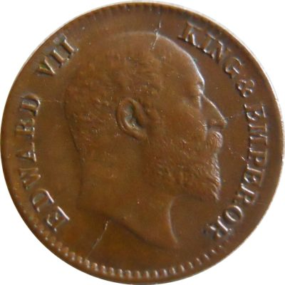 1908 1/12 One Twelve Anna Edward VII King Emperor - Calcutta Mint - RARE