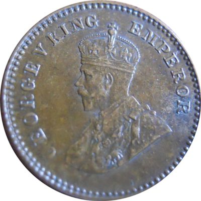 1934 1/12 One Twelve Anna George V King Emperor - Calcutta Mint - RARE