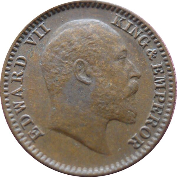 1909 1/12 One Twelve Anna Edward VII King Emperor - Calcutta Mint - RARE