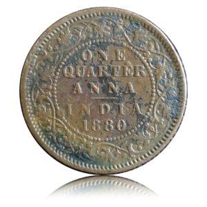 Victoria Empress One Quarter Anna 1880