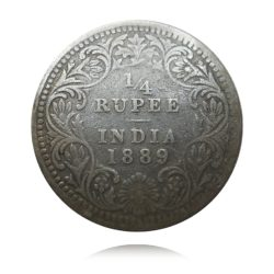 British India Quarter Rupee 1889 Silver Coin Queen Victoria Best Buy