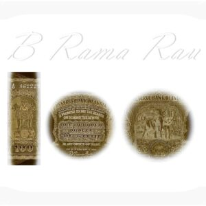 REPUBLIC INDIA 1951 100 RUPEE 2ND ISSUE B.RAMA RAU BOMBAY MINT NOTE