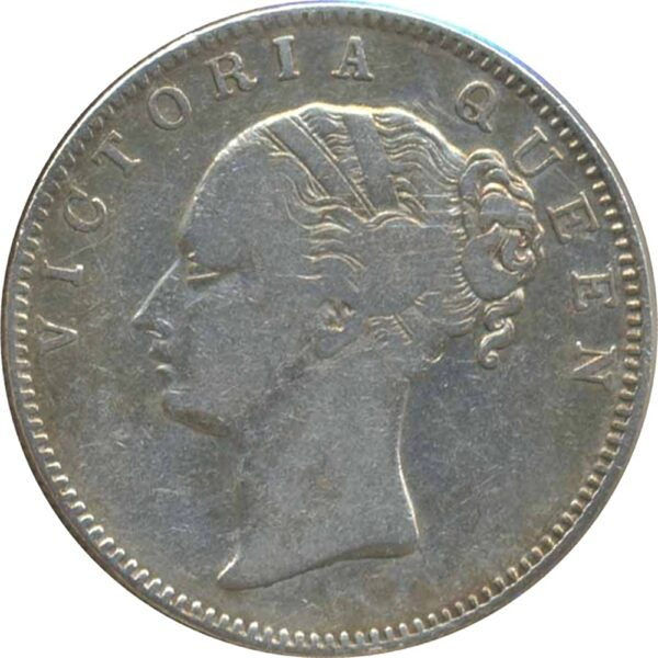 East India 1840 1 Rupee Victoria Queen Continuous Legend 19 Berries Calcutta Mint