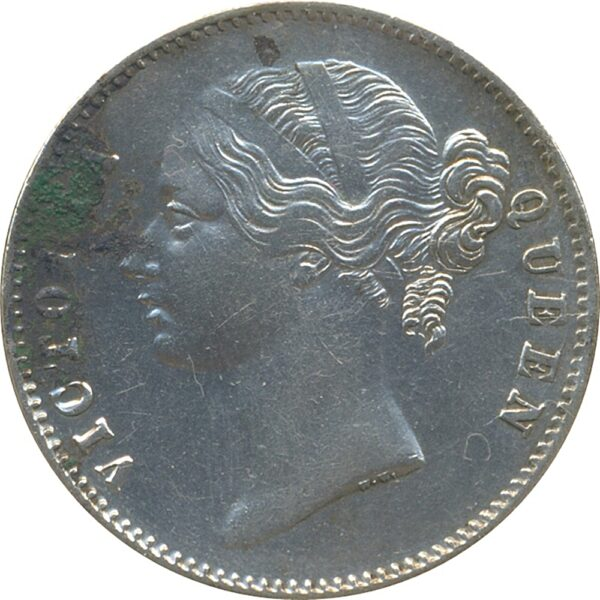 East India 1840 1Rupee Victoria Queen Divided Legend 28 Berries W.W.