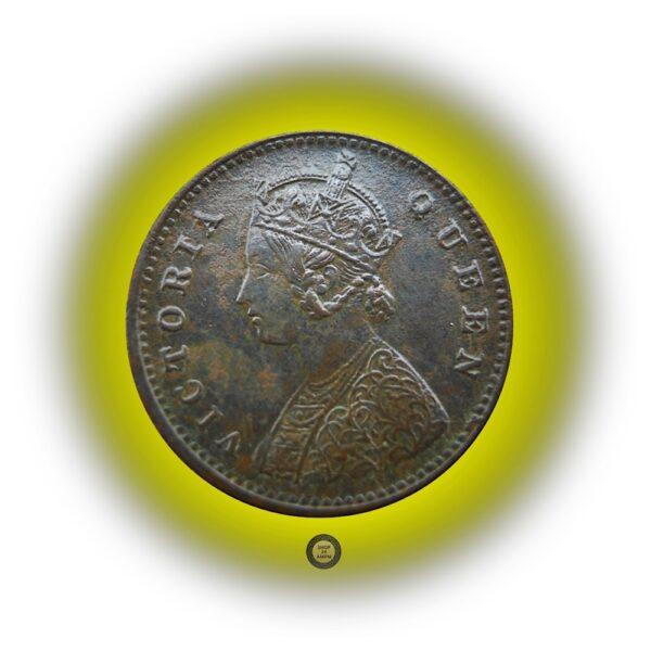 1862 1/12 One Twelve Anna British India Queen Victoria Coin - Best Buy - RARE COIN