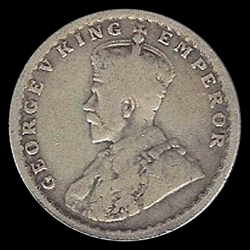 1921 1/2 Half Rupee Silver Coin King George V Calcutta Mint - Best Buy - RARE