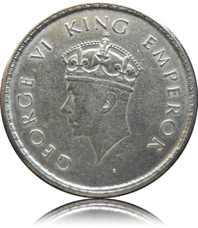 1938 1/2 Half Rupee  KM# 549  Silver Coin King George VI Bombay Mint - Worth Buy - RARE