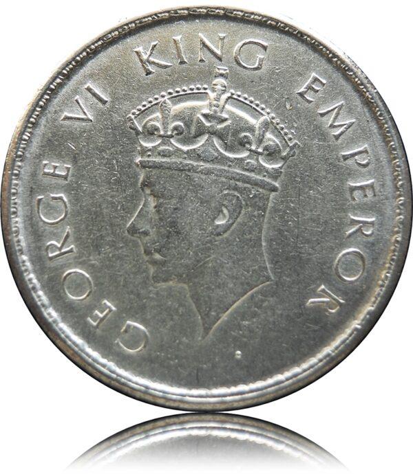 1938 1/2 Half Rupee KM# 549Silver Coin King George VI Bombay Mint - Worth Buy - RARE