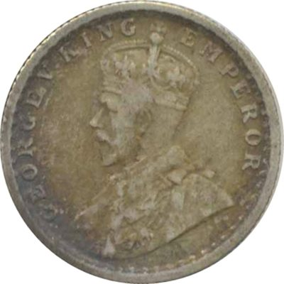 1929 1/4 Quarter Rupee Silver Coin King George V Calcutta Mint - Best Buy - RARE