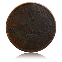 1885  1/12  Anna Queen Victoria Empress Calcutta Mint - Best Buy