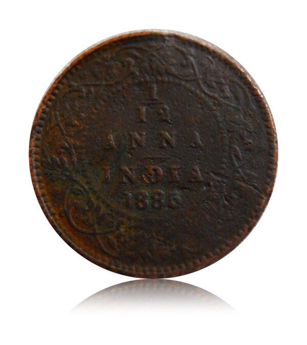 1885 1/12 Anna Queen Victoria Empress Calcutta Mint - Best Buy