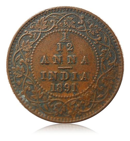 1891 1/4 Quarter Anna Queen Victoria Empress Calcutta Mint - Best Buy