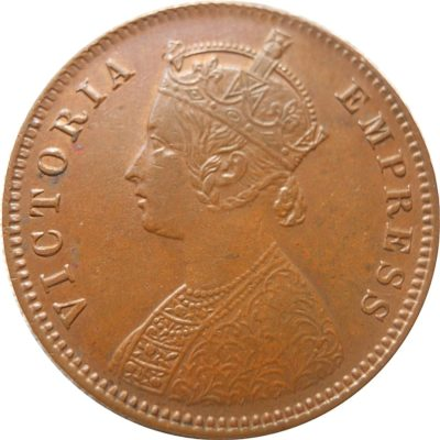1893 1/4 Quarter Anna Queen Victoria Empress Calcutta mint - Best Buy