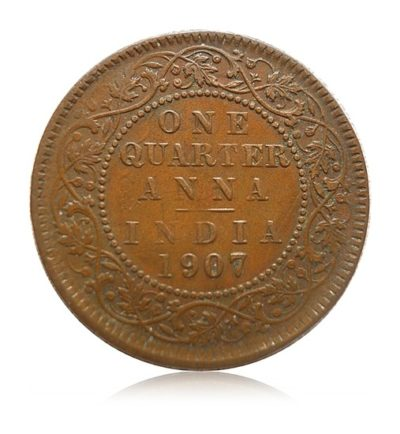 1907 1/4 Quarter Anna King Edward VII Calcutta Mint - Best Buy