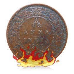 1903 1/12 One Twelve Anna Coin King Edward VII Calcutta Mint - Best Buy