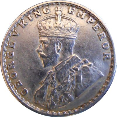1918 1/2 Half Rupee Silver Coin King George V Bombay Mint - Best Buy