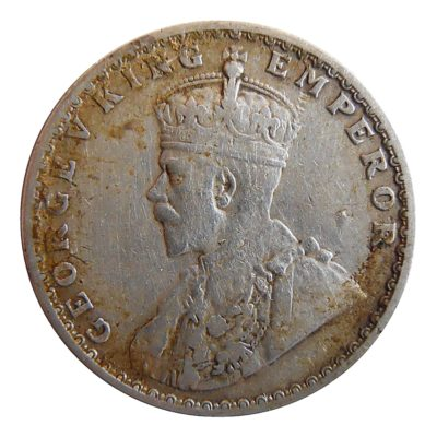 1922 1/2 Half Rupee Silver Coin King George V Calcutta Mint - Best Buy