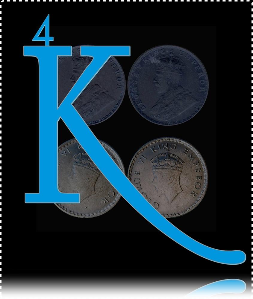 British India 1914 1939 1/4 Rupee Silver King George V & VI Calcutta & Bombay Mint