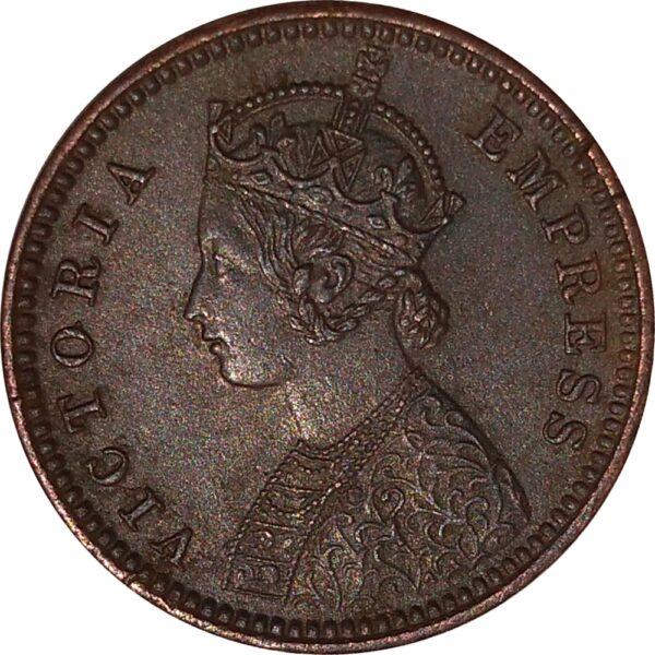 British India 1889 1/12 Anna Coin Queen Victoria Empress Calcutta Mint - Best Buy