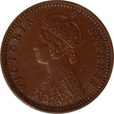 British India 1894 1/12 Anna Coin Queen Victoria Empress Calcutta Mint - Best Buy