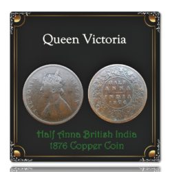 1876 Half Anna British India Queen Victoria - Worth Collecting