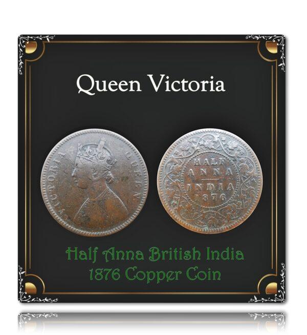 1876 Half Anna British India Queen Victoria - Worth Collecting