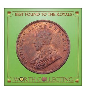 1931 Quarter Anna King George V - Calcutta Mint Class Coin -AUNC