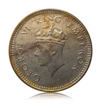 1939 1/2 Pice British India King George VI Bombay Mint (Silver Tonned ) Rare Worth Collecting